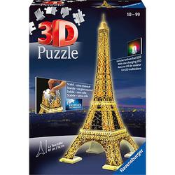 3D-Puzzle Night mit LED, H47 cm, 216 Teile, Eiffelturm bei Nacht