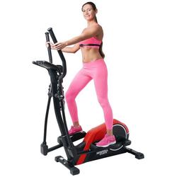 Miweba Sports Crosstrainer MC300, App Steuerung - 21 kg Schwungmasse - inkl. Pulsgurt rot