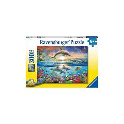 Ravensburger Puzzle Puzzle Delfinparadies, 300 Teile, Puzzleteile