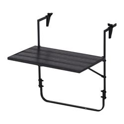dynamic24 Gartentisch, Polywood Balkontisch Klapptisch Hängetisch Tisch Balkon klappbar Holzoptik Möbel