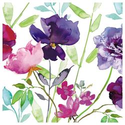 Linoows Papierserviette 20 Servietten Sommer, Rosen, Lilien und Bunte, Motiv Sommer, Rosen, Lilien und Bunte Blumen