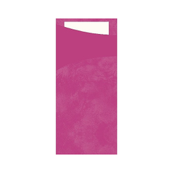 DUNI Sacchetto Serviettentaschen, Tissue, Praktische Bestecktasche, 1 Karton = 5 x 100 Stück, Farbe: fuchsia