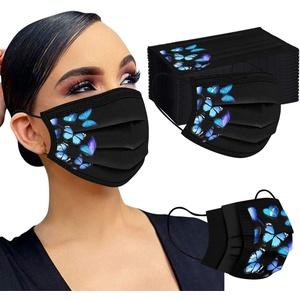 NMSLCNM 50 Stück Einmal-Mundschutz, Einweg Erwachsene Mundschutz mit Motiv Tie dye Bunt MNS Mund Nasenschutz 3 Lagig Atmungsaktiv Bandana Halstuch für Damen Männer