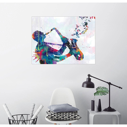 Posterlounge Wandbild, Saxofon 80 cm x 60 cm