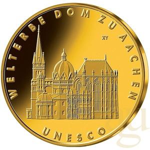 1/2 Unze Goldmünze - 100 Euro Dom zu Aachen 2012 (A)