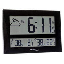 Wanduhr WS 8011 mit Jumbo LCD-Anzeige