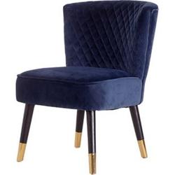 Velours Sessel Grit blau Relaxsessel Polstersessel Clubsessel Vintage Lounge
