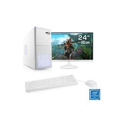 CSL Office PC Set, Intel Quad Core, 8 GB RAM, SSD, 24
