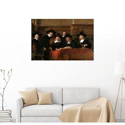 Posterlounge Wandbild, Die Staalmeesters 91 cm x 61 cm