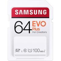 Samsung EVO Plus SDXC-Karte 64GB UHS-I Wasserdicht, stoßsicher