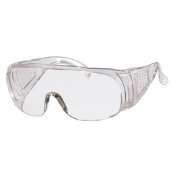 Panorama Schutzbrille Kunststoffgläser, kratzfest, für Brillenträger, DIN P - 5P - Farbe:klar