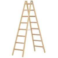 Hymer Holz-Sprossenstehleiter 7141016