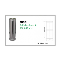 022/DN250 DW5 Schiebeelement 530 mm - 880 mm