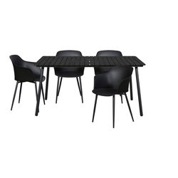 ebuy24 Essgruppe Dris Gartenmöbel Set 1 Tisch und 4 Stühle.