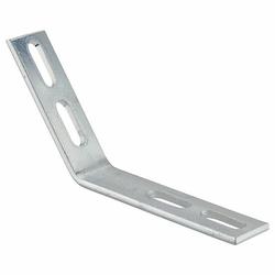 Winkel 45° verzinkt - 80 x 25 x 4 mm - mit 4 Langlöchern 8 x 25 mm - für Profil 27/18 und 28/30