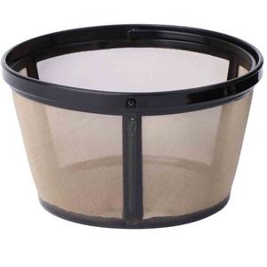QIANGU Kaffeefilter, Wiederverwendbare 10-12 Tasse Kaffeefilter Korbart Permanentes Metallgitter-Werkzeug BPA-frei