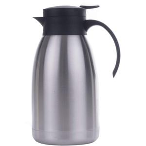 Haushalt International 26076 Isolierkanne Isolierflasche Thermo Kanne Kaffeekanne Edelstahl groß 2 L