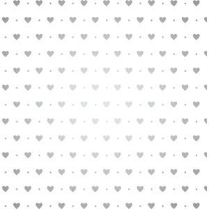 BSB Geschenkpapier mit kleinen Herzen in silber, 747011