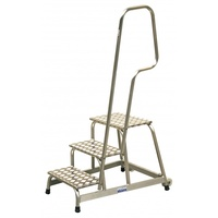Krause Mobiler Aluminium-MontageTritt 3 Stufen (805089)
