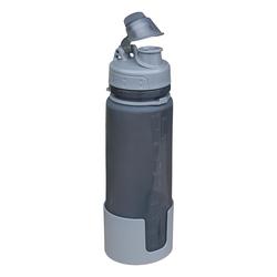 Fox Silikon Trinkflasche faltbar grau
