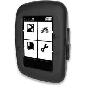 subtel® Schutzhülle kompatibel mit Garmin Edge 200 / Edge 500 Silikon Backcover Tasche Cover Case Etui schwarz