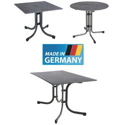 MFG MEC-SLIM Klapptisch mit Topalitplatte Balkontisch in Beton-Optik 80 cm rund