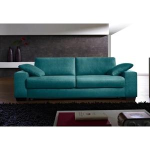 Places of Style Schlafsofa Norwalk, Dauerschlaffunktion, mit Unterfederung / Lattenrost und Matratze blau