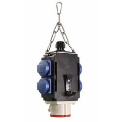 Energiewürfel II DAT+ 4 Steckdosen 230V, 1 CEE-Steckdose 16A, 400V, 2xRJ45 Cat. 6 Modul, IP67, mit Druckluftanschluss