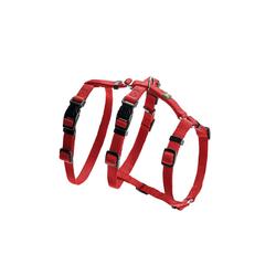 Hunter Hunde-Geschirr Panikgeschirr Vario Rapid, Nylon rot 48 cm - 70 cm