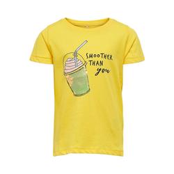 KIDS ONLY T-Shirt T-Shirt KONCINA für Mädchen, Organic Cotton gelb 122/128