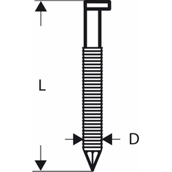 D-Kopf Streifennagel SN34DK 90R. 3.1 mm. 90 mm. bl