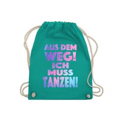 Shirtracer Turnbeutel Aus dem Weg! Ich muss tanzen! - Turnbeutel - Jutebeutel & Taschen, Festival Turnbeutel