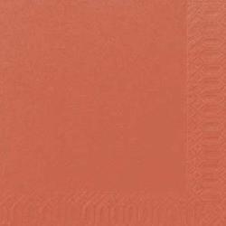 DUNI Servietten, 24 x 24 cm, 100 % Zellstoff Mundtuchserviette, 1 Karton = 8 x 250 = 2000 Stück, Cocktailserviette, Farbe: mandarin