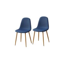 HTI-Line Esszimmerstuhl Stuhl SavannahW 2er blau