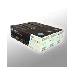 3 HP Toner CF371AM  128A  3-farbig