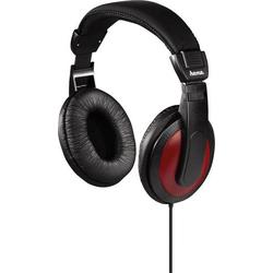 Hama Basic4Music HiFi Over Ear Kopfhörer Over Ear Schwarz, Rot