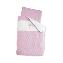 Bettwäsche Bettwäsche grau, 100 x 135 cm, Sterntaler® rosa