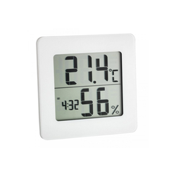 TFA Dostmann Hygrometer Digitales Thermo-Hygrometer mit Uhr