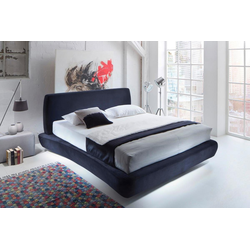 Places of Style Boxspringbett Andres, im besonderen Design blau