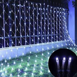 TOPMELON Lichterkette, LED Net Mesh Lichterkette, Wasserdicht, 4 Größen,Weihnachtsdekoration weiß 2 cm x 2 m