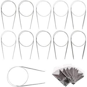 11-teiliges Rundstricknadel-Set, Rundstricknadel-Set für Anfänger 43/65/80 cm, verschiedene Größen 1,5 mm bis 5,0 mm (43 cm)