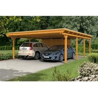 SKANHOLZ SKAN HOLZ Carport Emsland 613 x 846 cm mit Aluminiumdach, mit Abstellraum, eiche hell