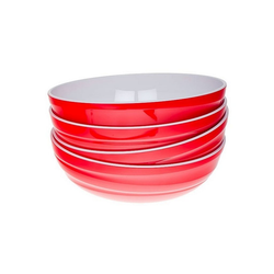 Genius Schüssel Genius - Design Servierschüssel Salatschüssel Schüssel Set 4-tlg rot 26101
