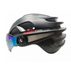 HAVEN Fahrradhelm VISION FUTURE, Fahrrad Helm aufklappbares Visier schwarz L / XL