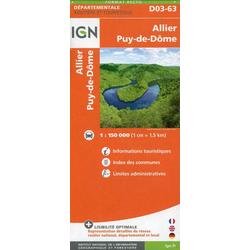 D03-63 Allier Puy 1:150 000