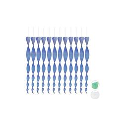 relaxdays Gartenzaun Vogelabwehr Spirale 12er Set blau