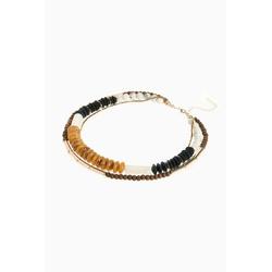 Next Perlenkette Mehrreihige Holz-Halskette mit Schmuckperlen
