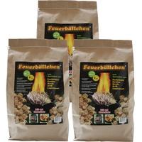 Feuerbällchen RaiffeisenWaren Kaminanzünder, Feueranzünder, Feuerbällchen 12,0 kg (Anzünder ökologisch, aus Naturprodukten - Wachs, Naturholz; Brenndauer ca. 10 min)