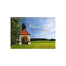 Fuldaer Land - Heile Welt zwischen Rhön und Vogelsberg (Tischkalender 2021 DIN A5 quer)