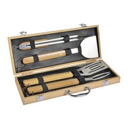 mastrad Grillbesteck-Set BBQ Set 4-tlg. mit Koffer